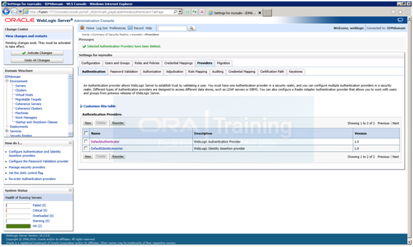 Configuring Oracle Identity and Access Management components   Ora