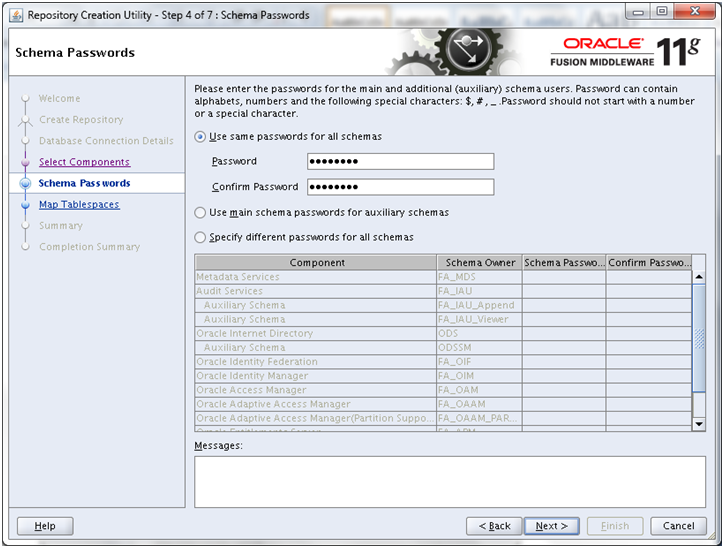 Oracle Fusion Applications Installation: Run Repository