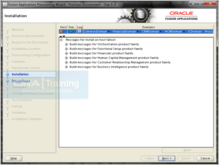 Oracle Fusion Applications Installation: Provision an