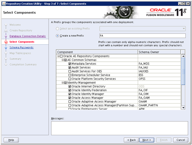 Run Repository Creation Utility (RCU) for Oracle Identity