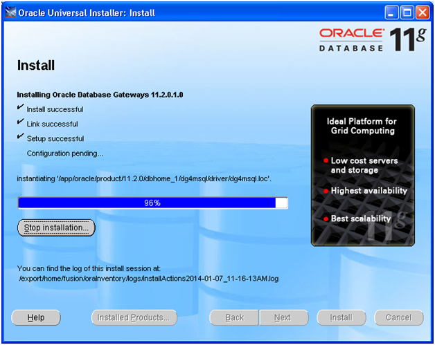 how to find the oracle_home path in oracle database 11g